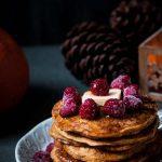 Kürbis Pancakes - vegan und ohne raffinierten Zucker - www.appleandginger.de