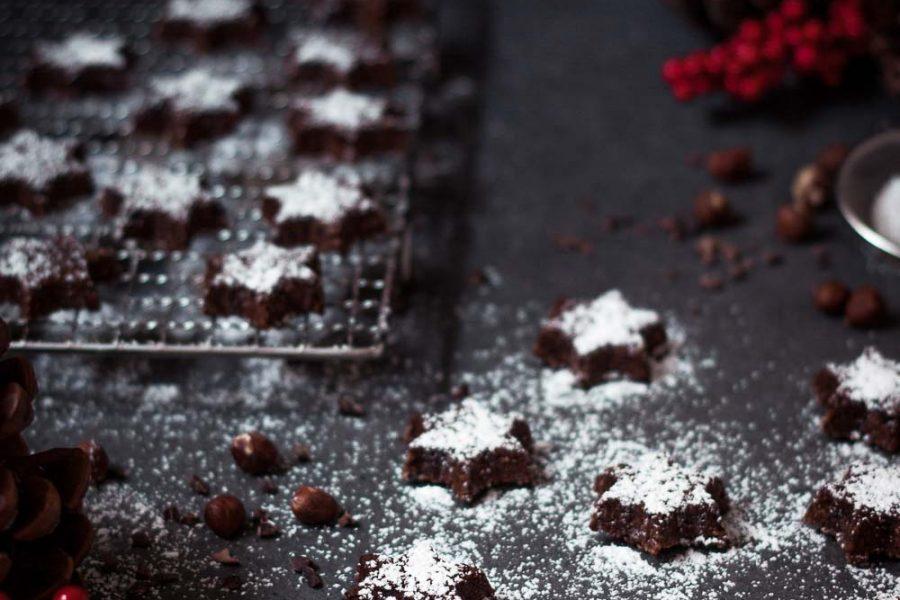 Schokoladensterne ohne Mehl und Milch