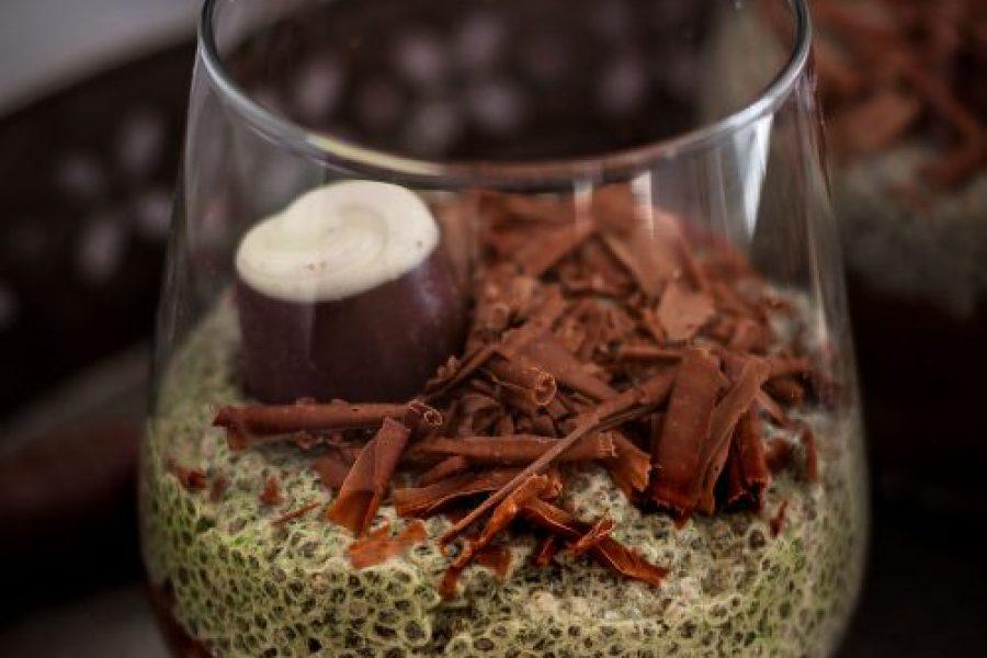 Matcha-Schokoladen-Chia-Pudding