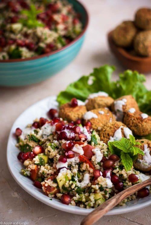 Schnelles 30 Minuten Tabouleh Mit Falafel Apple And Ginger