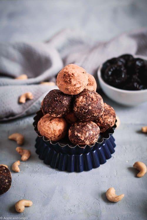 Protein Energy Balls mit Schokolade