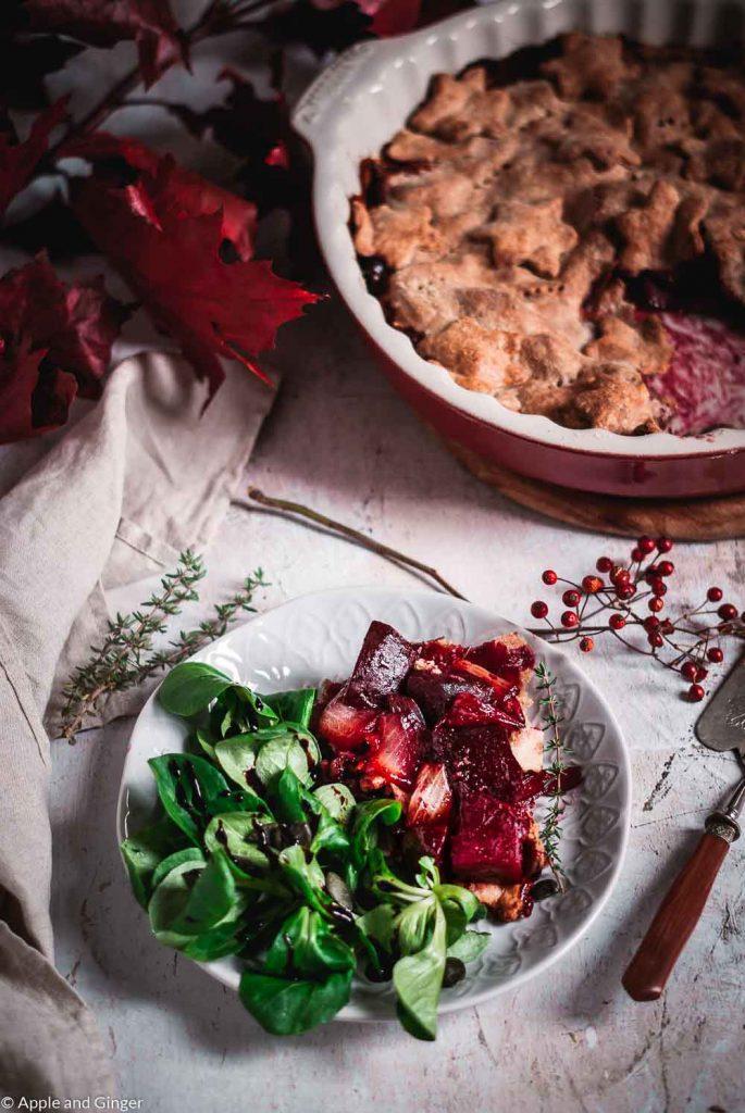 Tarte Tatin mit Roter Beete und Zwiebeln