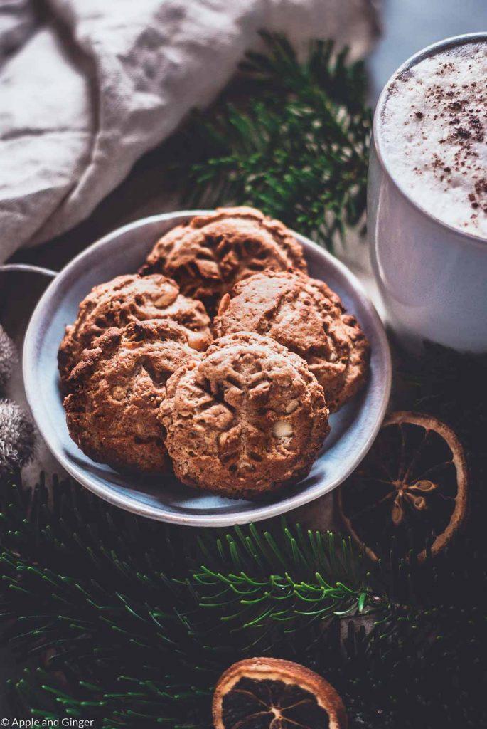 Erdnuss-Haferflocken-Cookies