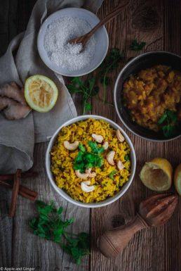 Ayurvedischer Zitronen-Cashew-Reis