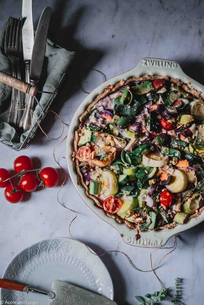 Gemüse-Quark-Quiche