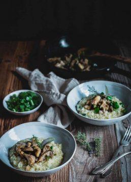 Soulfood Deluxe – Cremiges Risotto mit geschmorten Austernpilzen